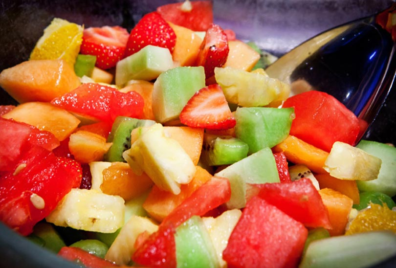 Start your day with some some fresh fruit or a fresh fruit salad.