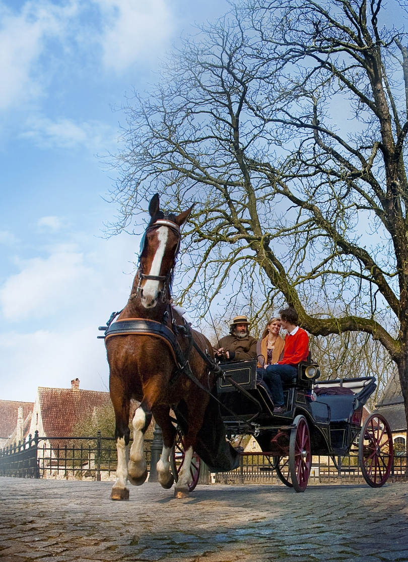 Explore the city by horse-drawn carriage and your romantic weekend break in Bruges will be a trip to remember.